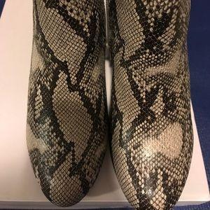 Rhodanna snakeskin booties